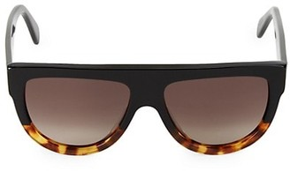 Celine 58MM Flat-Top Round Shield Sunglasses