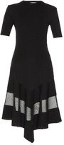 Givenchy Short-sleeved sheer-panel ribbed dress