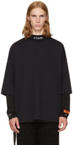 Unravel Black Boxy Sweat T-shirt