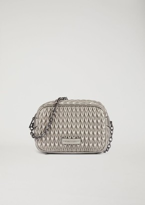 Emporio Armani Mini Cross Body Quilted Bag With Triangular Closure