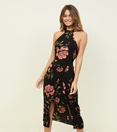 New Look AX Paris Floral High Neck Layered Bodycon Dress