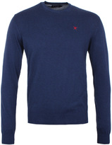 Hackett Navy Pima Cotton Knitted Crew Neck Sweater
