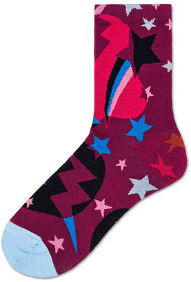 Hysteria By Happy Socks Viola Graphic Ankle Socks