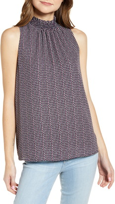 Gibson Smock Neck Sleeveless Blouse