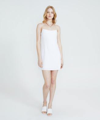 Alice In The Eve Bias Cut Linen Slip Dress White