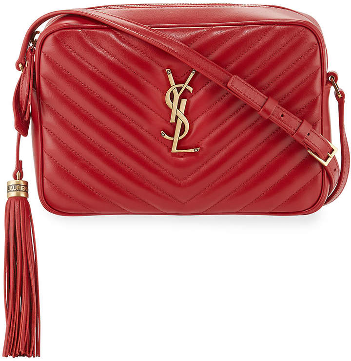Saint Laurent Lou Medium Monogram Calf Crossbody Bag