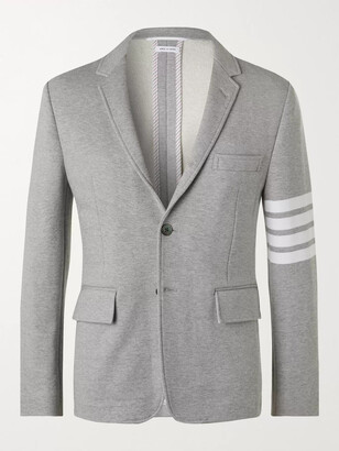 Thom Browne Striped Melange Cotton Blazer