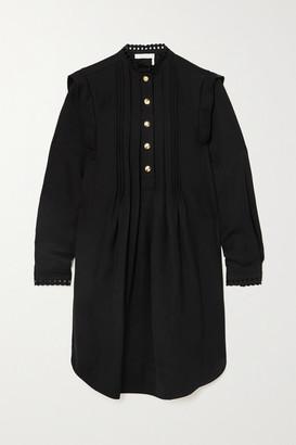 Chloé Pintucked Gabardine Mini Dress - Black