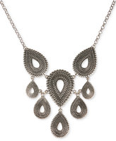 Lucky Brand Silver-Tone Tribal Collar Necklace
