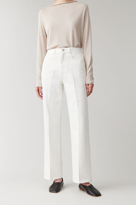 Cos High-Waisted Organic Cotton Straight Jeans