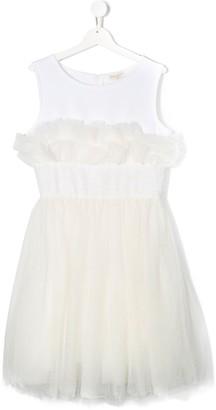 MonnaLisa TEEN sleeveless tulle dress