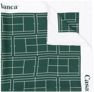 Casablanca Tennis court silk scarf