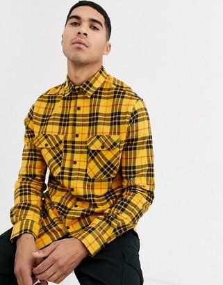 Burton Menswear long sleeve shirt in yellow check
