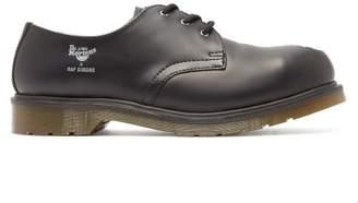 Raf Simons X Dr. Martens Asymmetric Steel Toe Leather Shoes - Mens - Black