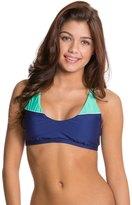 Splendid Sunblock Solid Sports Bra Bikini Top 8120997