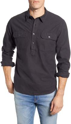 Madewell Moleskin Long Sleeve Pullover Work Shirt