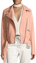 A.L.C. Duvall Leather Motorcycle Jacket, Pink