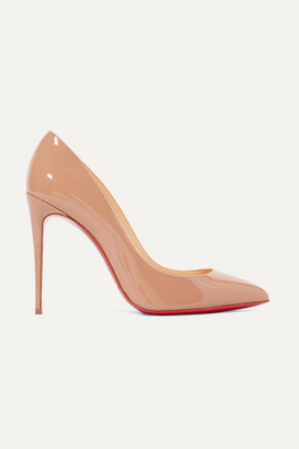 Christian Louboutin Pigalle Follies 100 Patent-leather Pumps - Neutral
