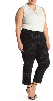 Amanda & Chelsea Hannah Comfort Waist Windowpane Print Pants (Plus Size)