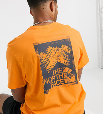 The North Face Stroke Mountain t-shirt in orange Exclusive at ASOS