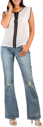 Standards & Practices Clarice Boy Toy Mid-Rise Distressed Boot-Cut Jeans