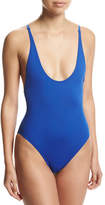 Proenza Schouler Solid Lace-Back One-Piece Swimsuit