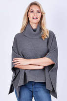 NEW Fate + Becker Womens Ponchos Caterina Poncho Charcoal