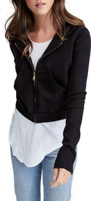 Frank And Eileen Zip-Front Triple Fleece Crop Hoodie Jacket