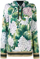 Dolce & Gabbana floral hooded sweatshirt - women - Cotton - 40