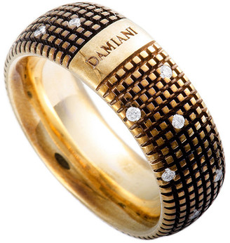 Damiani 18K & Rhodium 0.14 Ct. Tw. Diamond Ring