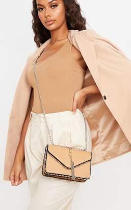 PrettyLittleThing Chestnut PU Chain and Tassel Trim Cross Body Bag