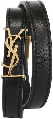 Saint Laurent Double Wrap Logo Bracelet