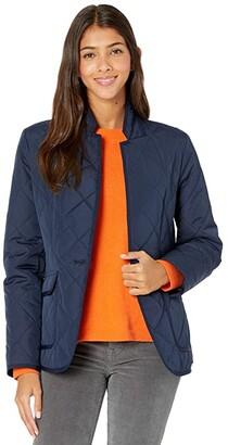 J.Crew Regent Puffer Blazer Jacket (Navy) Women's Coat