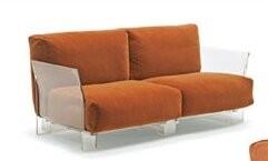 Kartell Pop Modular Loveseat Upholstery Color: Orange