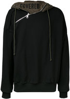 Juun.J zip detail hoodie - men - Cotton - 46