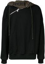Juun.J zip detail hoodie