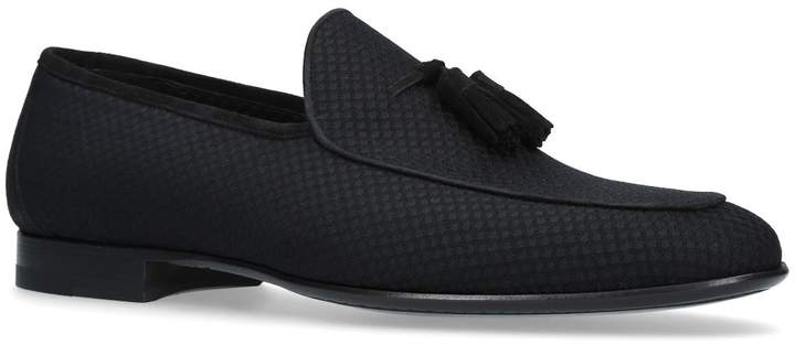 Magnanni Dot Material Tassel Loafers