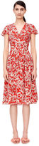 Rebecca Taylor Short Sleeve Cherry Blossom Dress