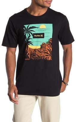 Hurley Premium Aerial Graphic Logo T-Shirt