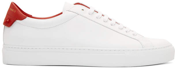 Givenchy White and Red Urban Street Sneakers
