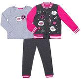 Betsey Johnson Patchiness Toddler Three Pc Jacket Set