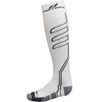 Pro Touch Balua UX Cushioned Knee High Compression Running Socks White