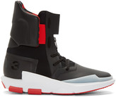 Y-3 Black and Red Noci 0003 High-top Sneakers
