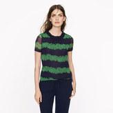J.Crew Silk ruffle top in beanstalk stripe