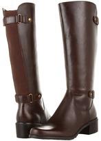 Anne Klein Evanthe Wide Calf Riding Boot (Cognac Leather) - Footwear