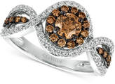LeVian Le Vian Chocolatier® Diamond Ring (1-1/6 ct. t.w.) in 14k White Gold