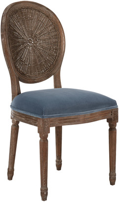 OKA Washakie Velvet Dining Chair - Air Force Blue
