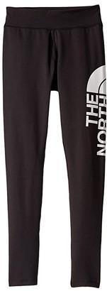 The North Face Kids Metro Logo Leggings (Little Kids/Big Kids) (TNF Black) Girl's Casual Pants