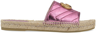 Gucci Leather Espadrille Sandals in Rosa | FWRD