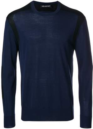 Neil Barrett contrast panel jumper